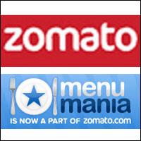 Restaurant discovery & reviews venture Zomato acquires Kiwi rival MenuMania
