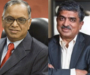 N R Narayana Murthy & Nandan Nilekani reflect on past, present & future of Infosys