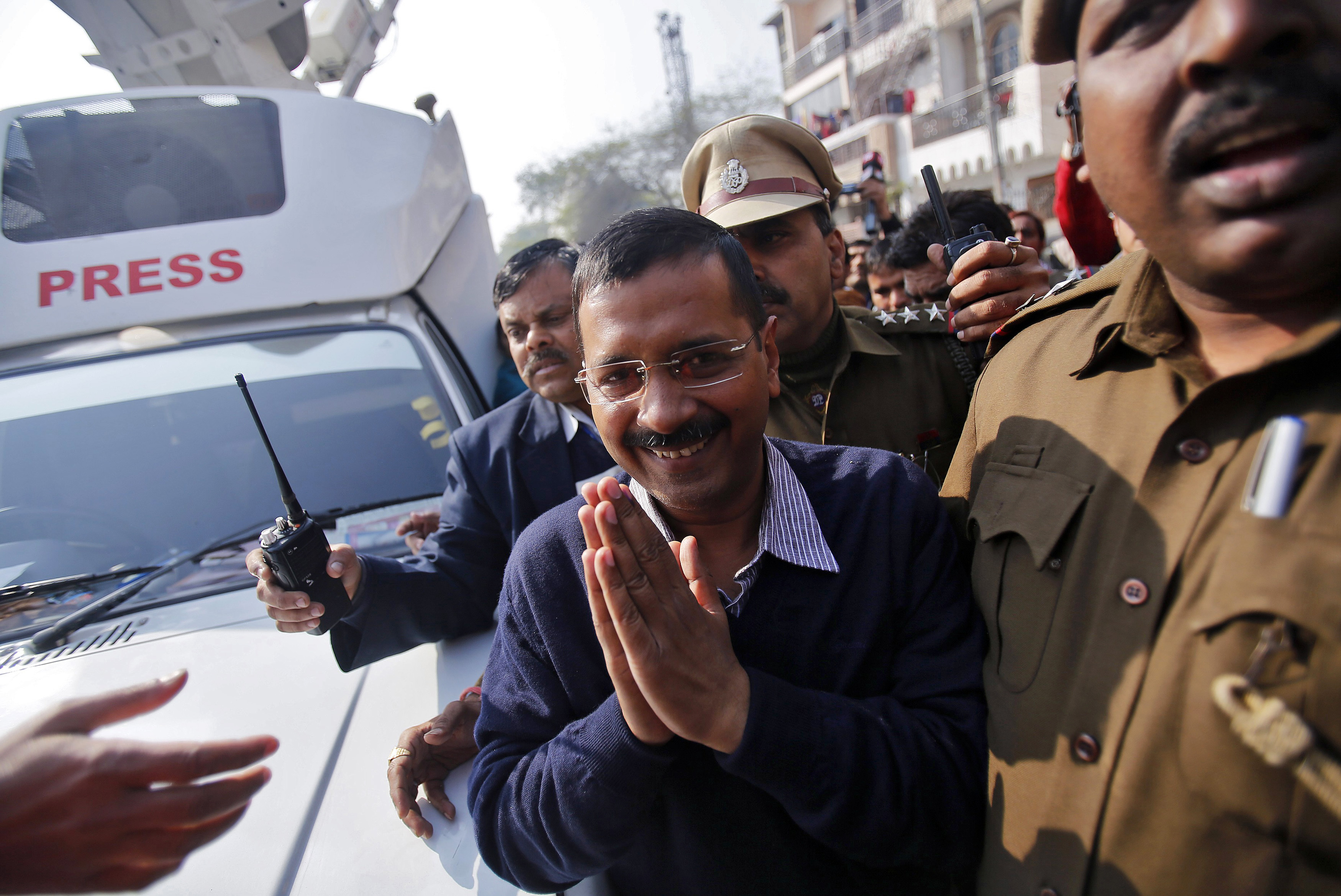 Aam Aadmi Party sweeps Delhi elections with 67 seats