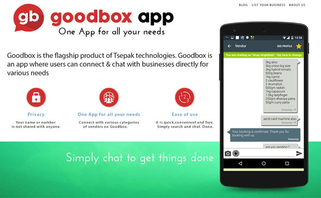 Chat-based commerce platform GoodBox raises $200K in seed funding from Manipal group firm