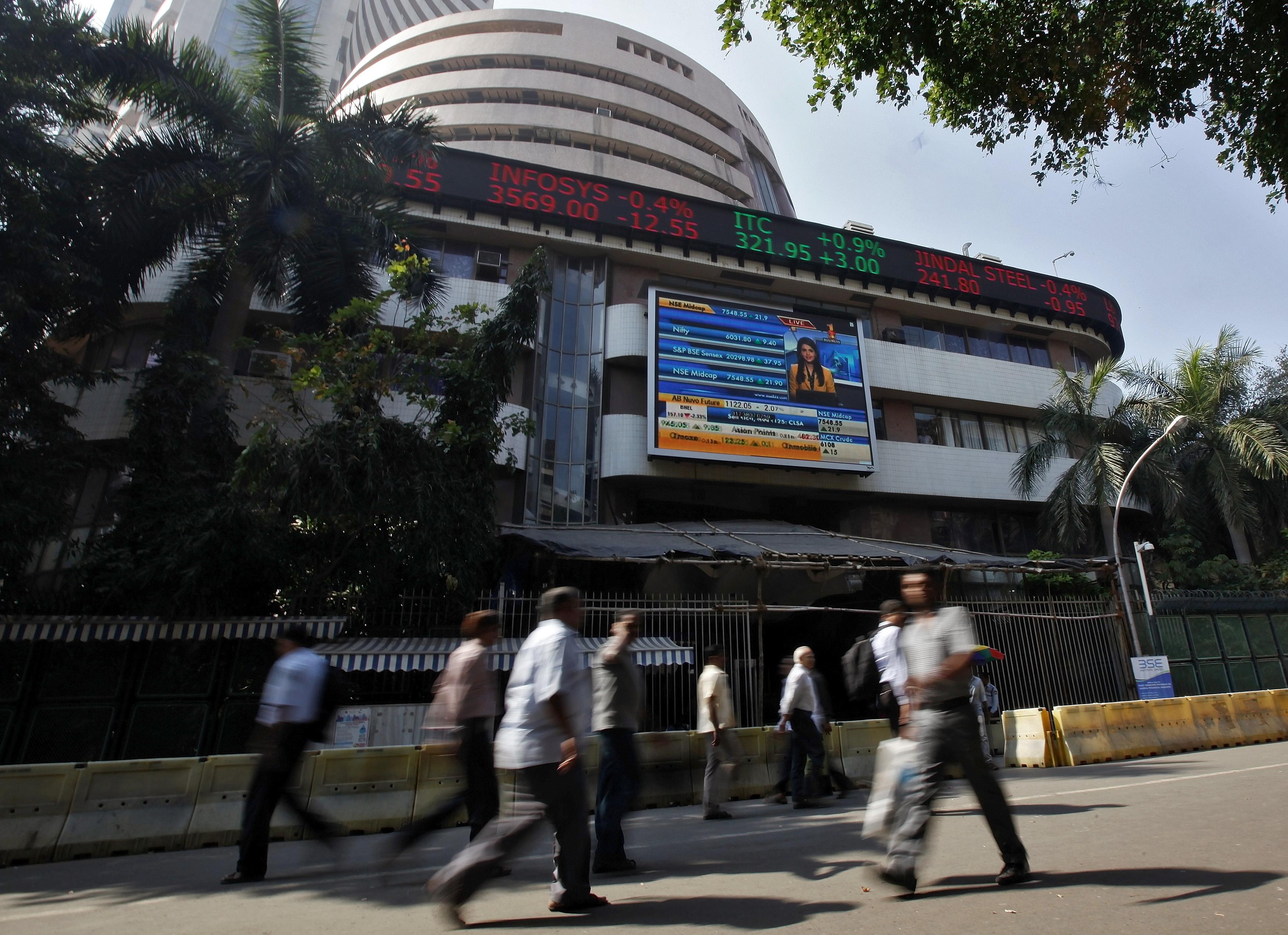 Sensex slides further, Nifty ends below sensitive 8,000 mark