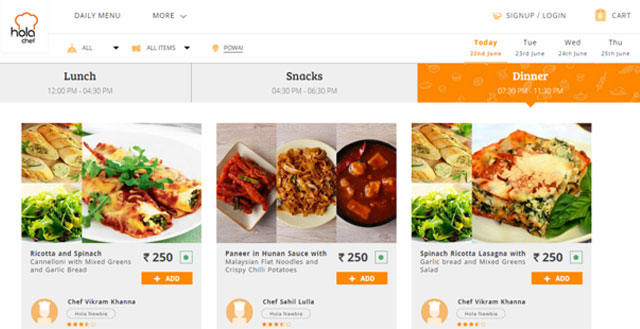 Food tech startup Holachef secures $3.1M from Kalaari Capital and India Quotient