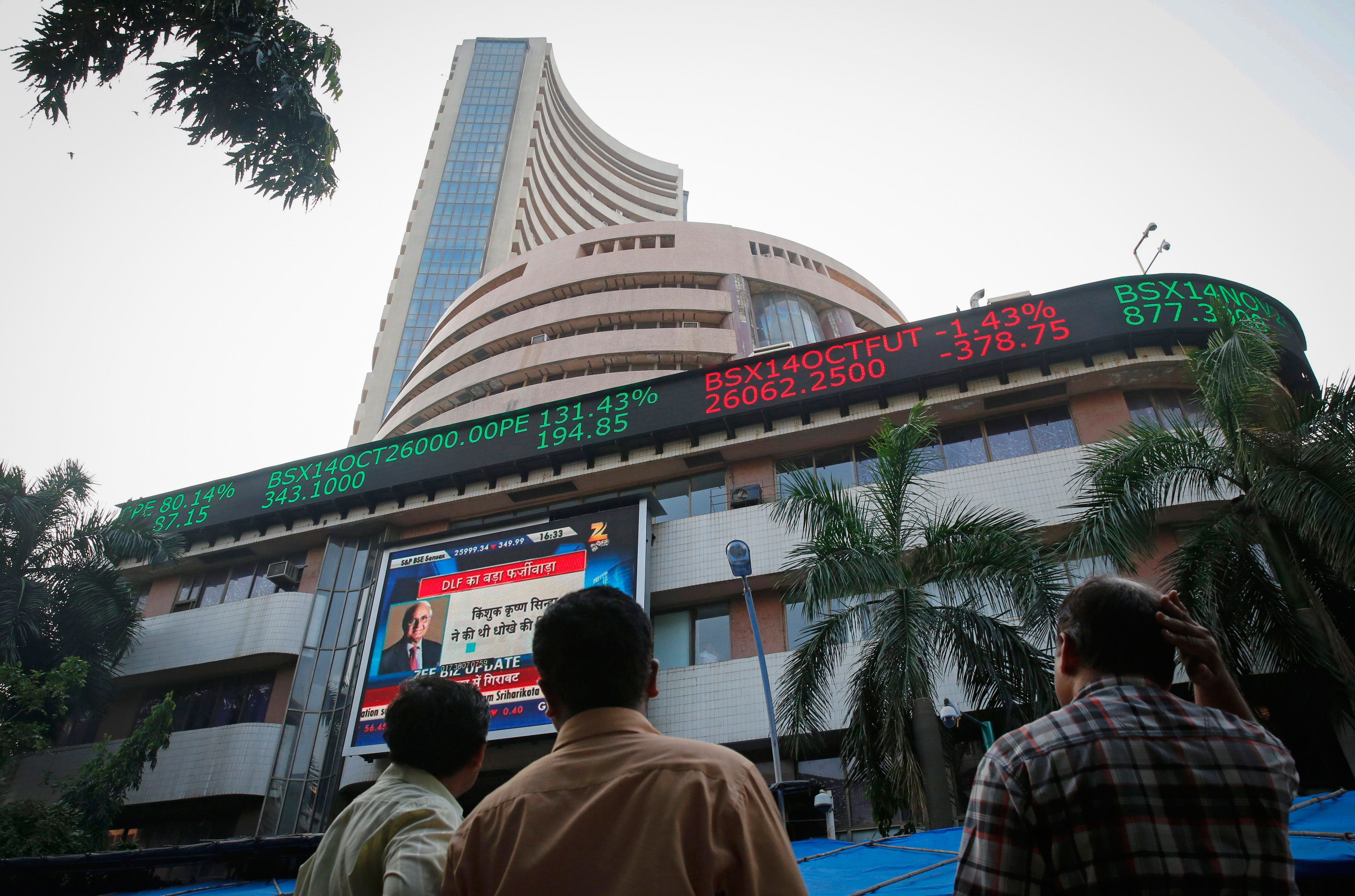 Sensex slides further to near 8-month low