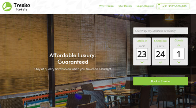 Online aggregator for branded budget hotels Treebo raises $6M from Matrix and SAIF