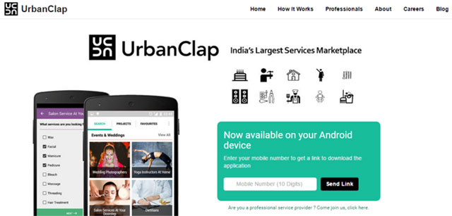 Mobile-only local services marketplace UrbanClap raises $10M from Accel & SAIF Partners