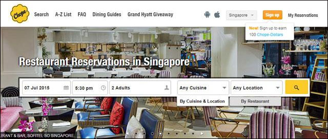 DSG co-invests in $8M round in Singapore-based online restaurant reservation firm Chope