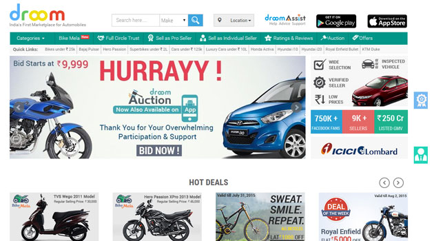 Used vehicles marketplace Droom raises $16M from Lightbox and Beenos