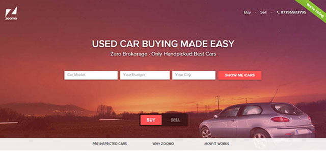 Mobile P2P marketplace for used cars Zoomo raises $5M from existing investors SAIF Partners