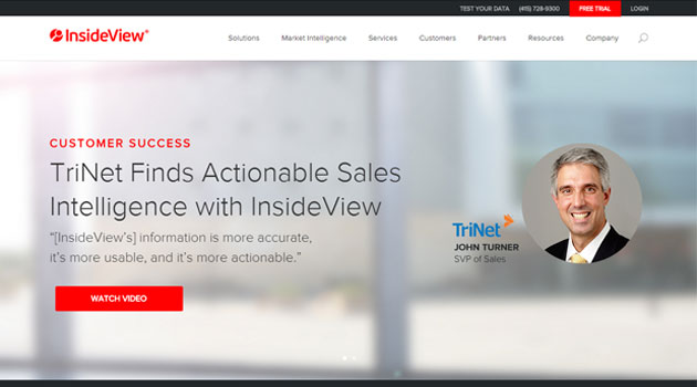 SaaS-based market analytics firm InsideView raises $32.5 million from Spring Lake Equity Partners