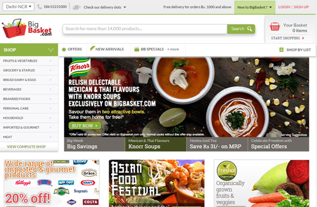 Online grocer BigBasket raises $50M from Bessemer, others