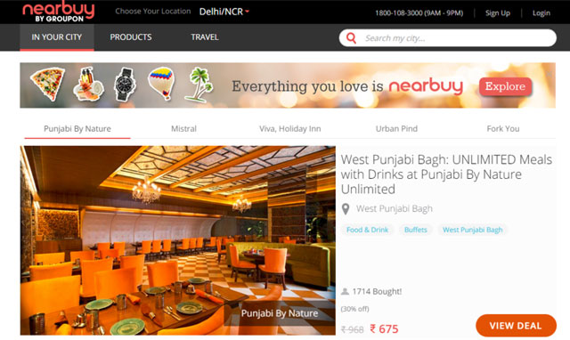 Groupon cedes control of Indian arm to Sequoia, local management; rebrands to Nearbuy