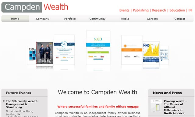 UK's Campden Wealth ties up with Patnis to enter India