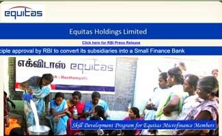 Equitas soars on stock market debut