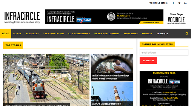 News Corp VCCircle to launch new offering Infracircle on December 15