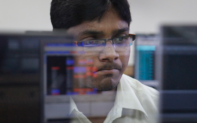 Sensex falls from record highs ahead of RBI minutes