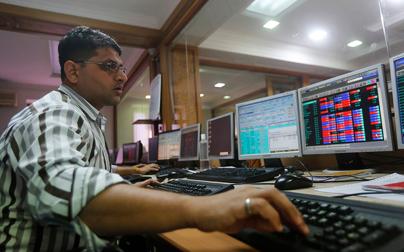 Sensex slides as rupee hits all-time low